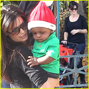 Sandra Bullock & Louis: California Christmas Party!