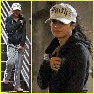 Vanessa Hudgens: Gym with Sister Stella