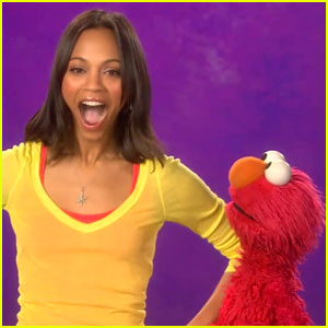 Zoe Saldana Teaches Transportation with Elmo