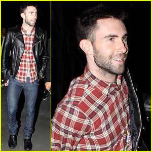 Adam Levine Wears Clothes for Dinner