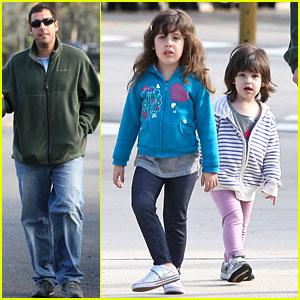 Adam Sandler: Strolling with Sadie & Sunny!