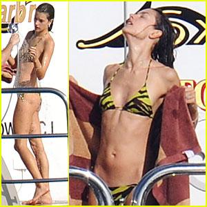 Alessandra Ambrosio: St. Barts Bikini Beauty!