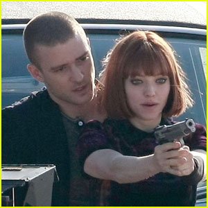 Justin Timberlake & Amanda Seyfried: Filming with Firearms