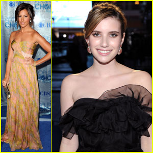 Ashley Tisdale & Emma Roberts: People's Choice Awards!