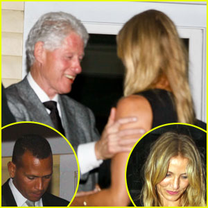 Cameron Diaz & Alex Rodriguez: Dinner with Bill Clinton!