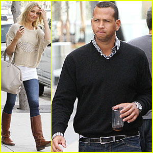Cameron Diaz: Hollywood Lunch with Alex Rodriguez!