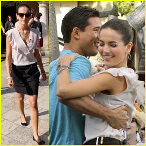 Camilla Belle: 'Extra' Dancing with Mario Lopez