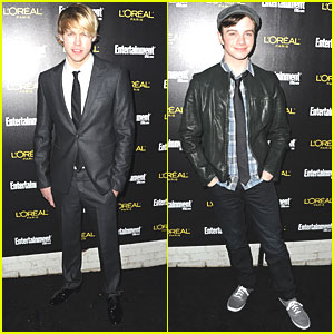 Chris Colfer & Chord Overstreet: SAG Nominees Party!