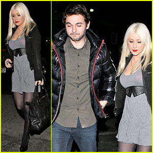 Christina Aguilera: Nobu Date Night with Matthew Rutler!