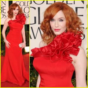 Christina Hendricks - Golden Globes 2011 Red Carpet