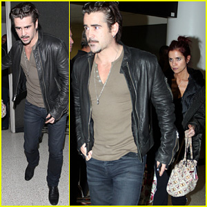 Colin Farrell: L.A. Arrival with Sis Claudine!