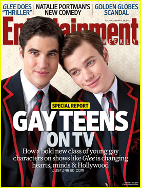 Chris Colfer & Darren Criss Cover 'Entertainment Weekly'