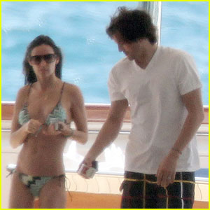 Demi Moore: Bikini Boat Ride with Ashton Kutcher