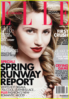 Dianna Agron Covers 'Elle Canada' February 2011