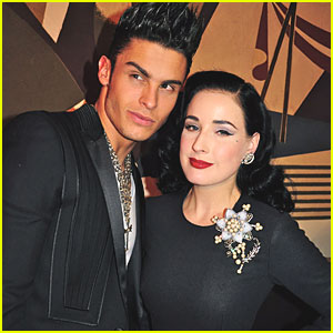 Dita Von Teese: Dinner with Baptiste Giabiconi!