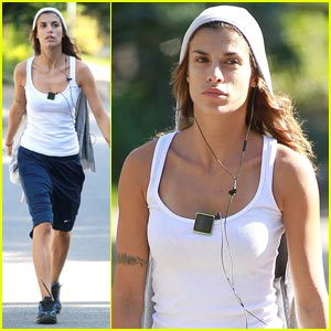 Elisabetta Canalis Does The Dog Walk