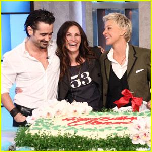 Julia Roberts & Colin Farrell: Happy Birthday, Ellen DeGeneres!