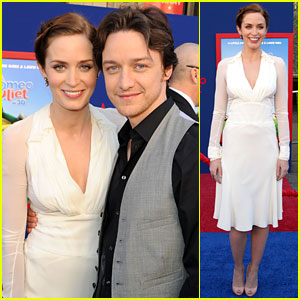 Emily Blunt: 'Gnomeo & Juliet' Premiere with James McAvoy!