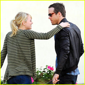 Emma Stone & Ryan Reynolds: 'Croods' Buddies!