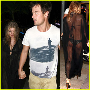 Fergie: Sheer Cover-up with Josh Duhamel