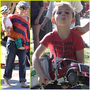 Gwen Stefani: Coldwater Canyon Park with the Boys!
