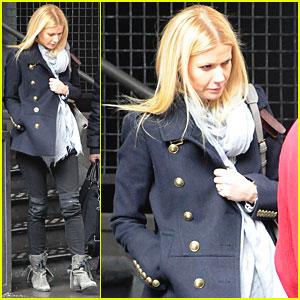 Gwyneth Paltrow: Military Chic in NYC