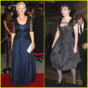 Helen Mirren & Helena Bonham Carter: Directors Guild Awards!