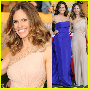 Hilary Swank & Mariska Hargitay - SAG Awards 2011 Red Carpet