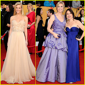 Jane Lynch & Heather Morris: SAG Awards 2011 Red Carpet