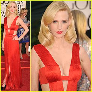 January Jones - Golden Globes 2011 Red Carpet