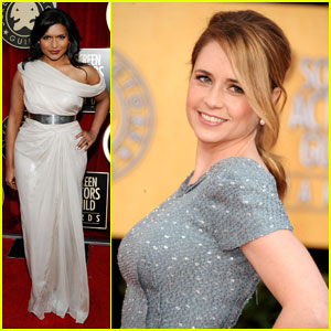 Jenna Fischer & Mindy Kaling - SAG Awards 2011 Red Carpet