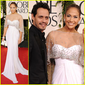 Jennifer Lopez - Golden Globes 2011 Red Carpet with Marc Anthony!