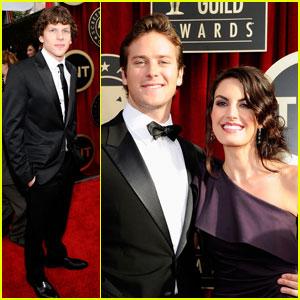 Jesse Eisenberg & Armie Hammer - SAG Awards 2011 Red Carpet