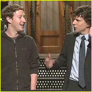 Jesse Eisenberg Meets Mark Zuckerberg on SNL