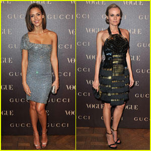 Jessica Alba & Diane Kruger: Vogue Paris Dinner!