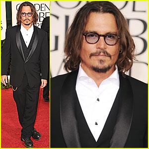 Johnny Depp - Golden Globes 2011 Red Carpet