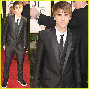Justin Bieber - Golden Globes 2011 Red Carpet