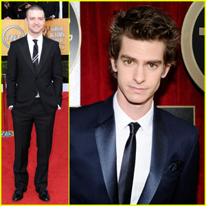 Andrew Garfield & Justin Timberlake - SAG Awards 2011 Red Carpet