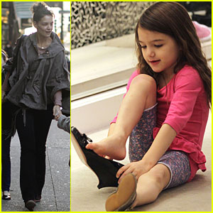 Suri Cruise: Shoe Shopping with Katie Holmes!
