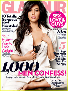 Kim Kardashian Covers 'Glamour' February 2011