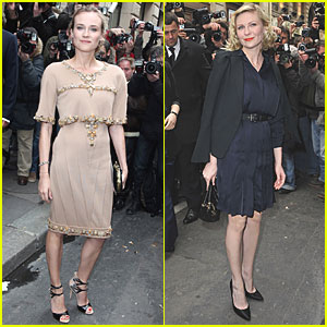Kirsten Dunst & Diane Kruger: Chic for Chanel Show!