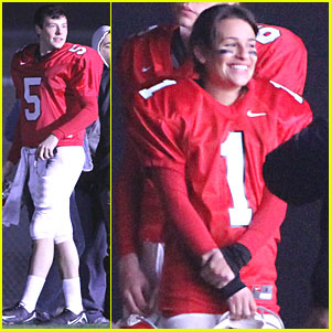 Lea Michele: 'Glee' Hits the Gridiron!