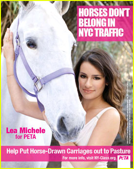 Lea Michele: Horses Don't Belong in Traffic!