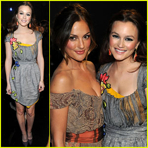 Leighton Meester: People's Choice Awards with Minka Kelly!