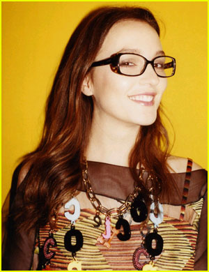 Leighton Meester: Glasses for Missoni Campaign Shot!