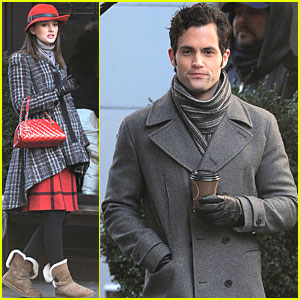 Leighton Meester & Penn Badgley: Park Avenue Actors