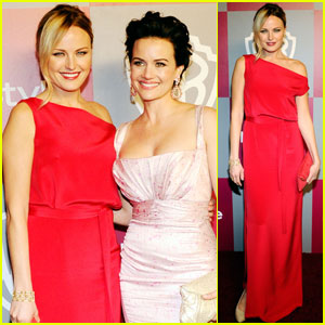 Malin Akerman & Carla Gugino: InStyle for the Golden Globes!