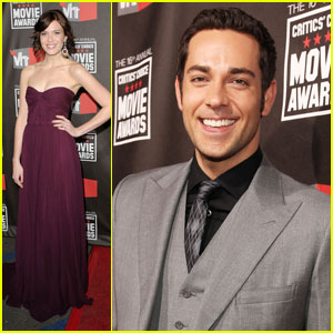 Mandy Moore & Zach Levi: 'Tangled' at Critics' Choice Awards