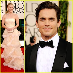Matt Bomer & Kaley Cuoco: Golden Globes 2011 Red Carpet