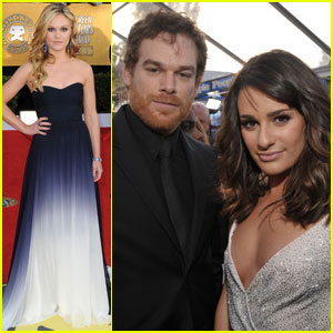 Michael C. Hall & Julia Stiles - SAG Awards 2011 Red Carpet